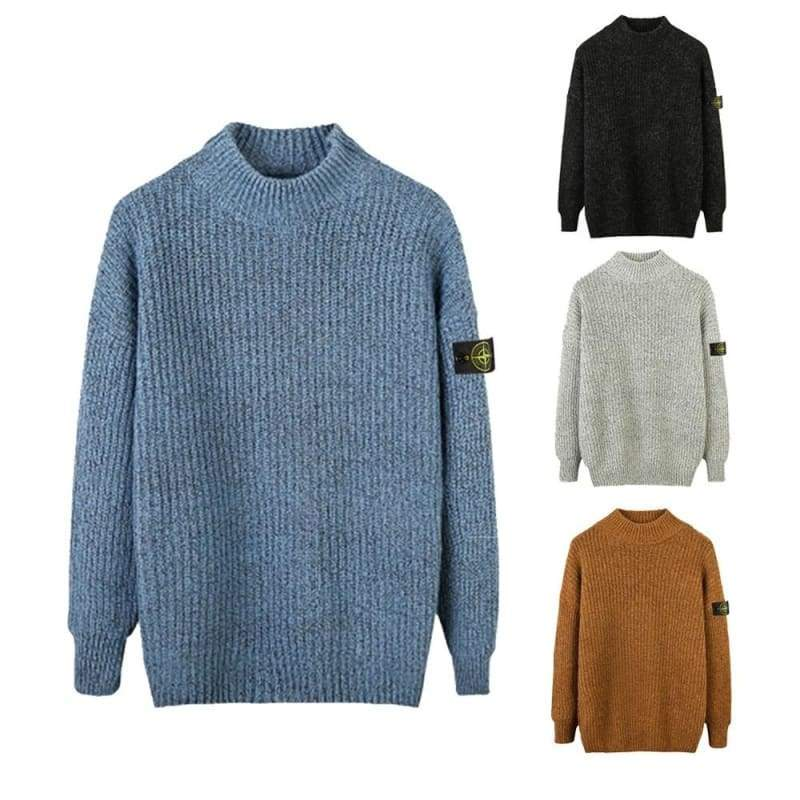 2020 Spring and Autumn Men's Loose Crew Neck Sweater Men's Casual Logo Long Sleeve Sweater