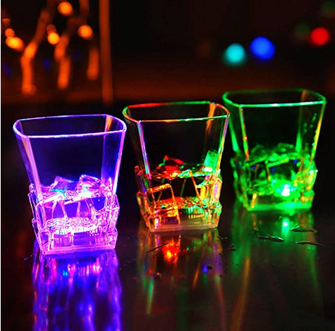 Flashing Light Up Cup,glowing Party Supplies, Water Activated Color Changed Multicolor Beer Whisky Wine Cup Mug