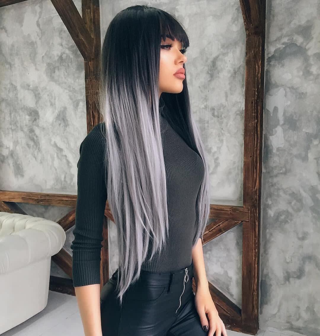 2020 New Gray Hair Wigs For African American Women Cheap Curly Wigs Natural Wigs Dark To Grey Hair Highlights To Cover Gray Wig Adhesive