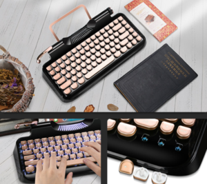Typerwriter Style Mechanical Wired & Wiredless Keyboard