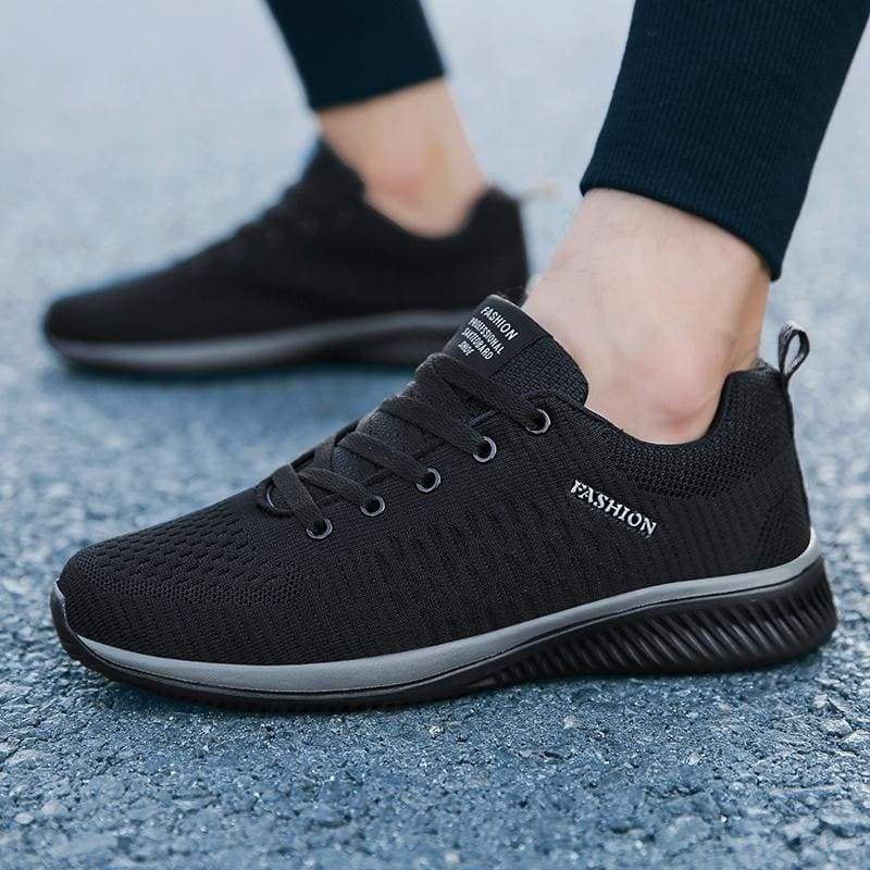 Men's Running Shoes Tennis Sneakers Breathable Non-slip Knit Shoes Men's Jogging Shoes