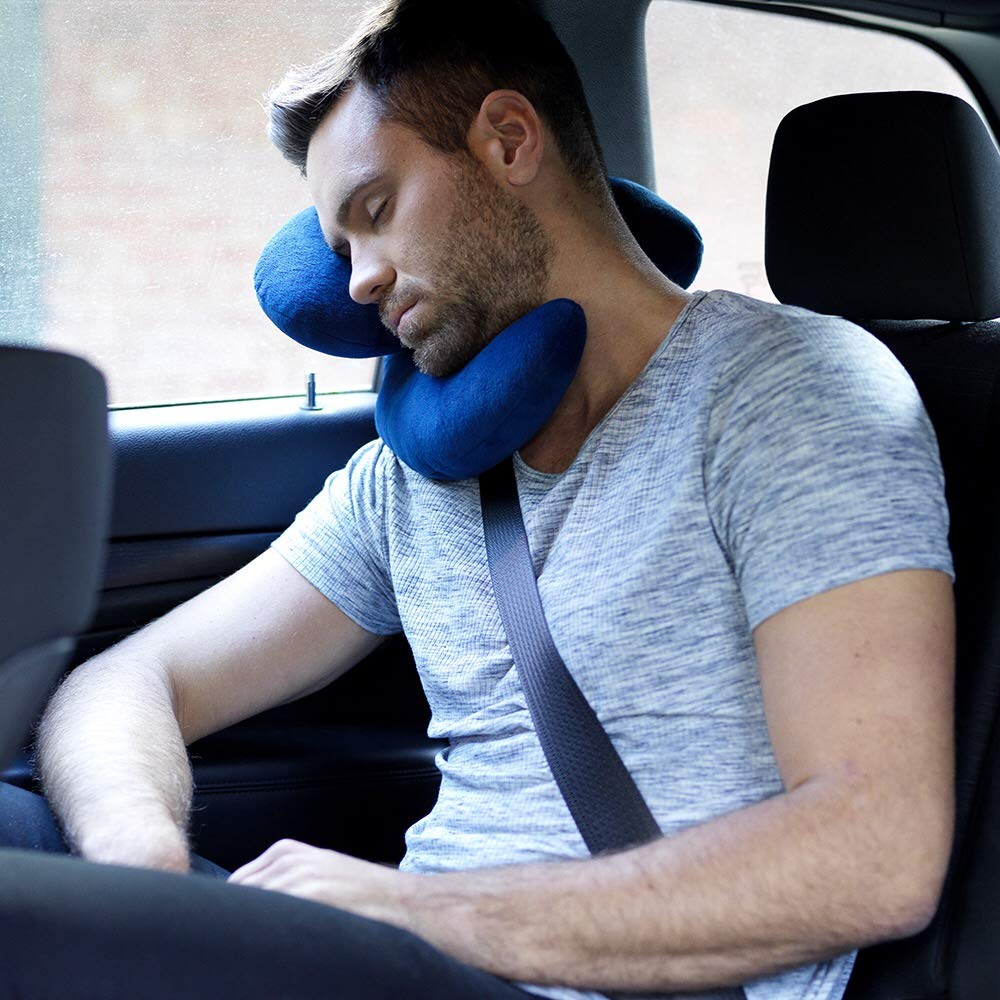 Travel Pillow, British Invention of The Year, 2019 Version with Increased 3D Support for Head, Chin & Neck in Any Sitting Position, Attach to Luggage(buy more than 3 save $5)