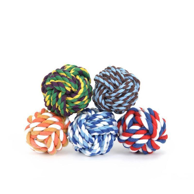 Pets Rope Ball Interactive Toys Teeth Clean