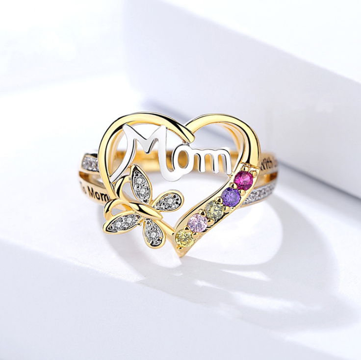 Mother's Day MOM Ring
