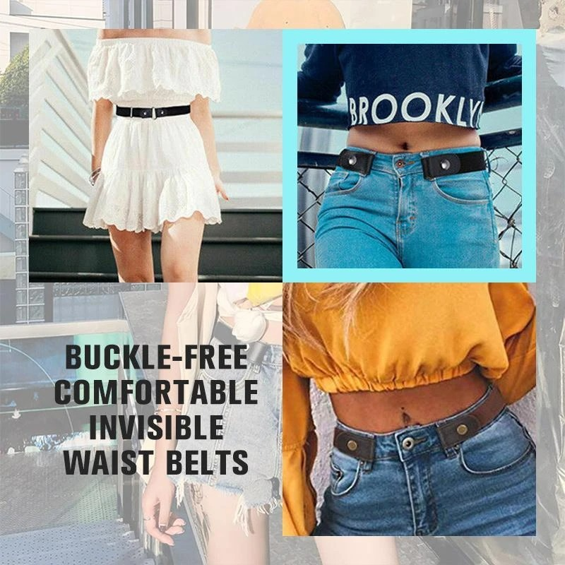 (Women's Day Promotion- SAVE 50% OFF) Buckle-free Invisible Elastic Waist Belts -【Parent-child package】
