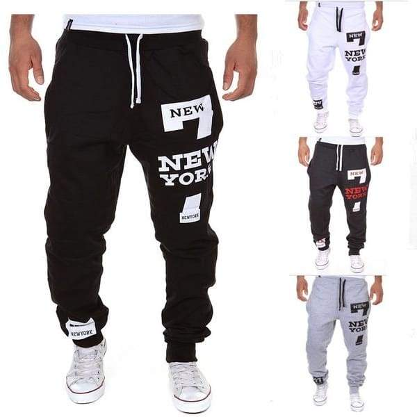 2019 NEW YORK Printed Men's Casual Pant Spring Fashion Men's Sports Trousers