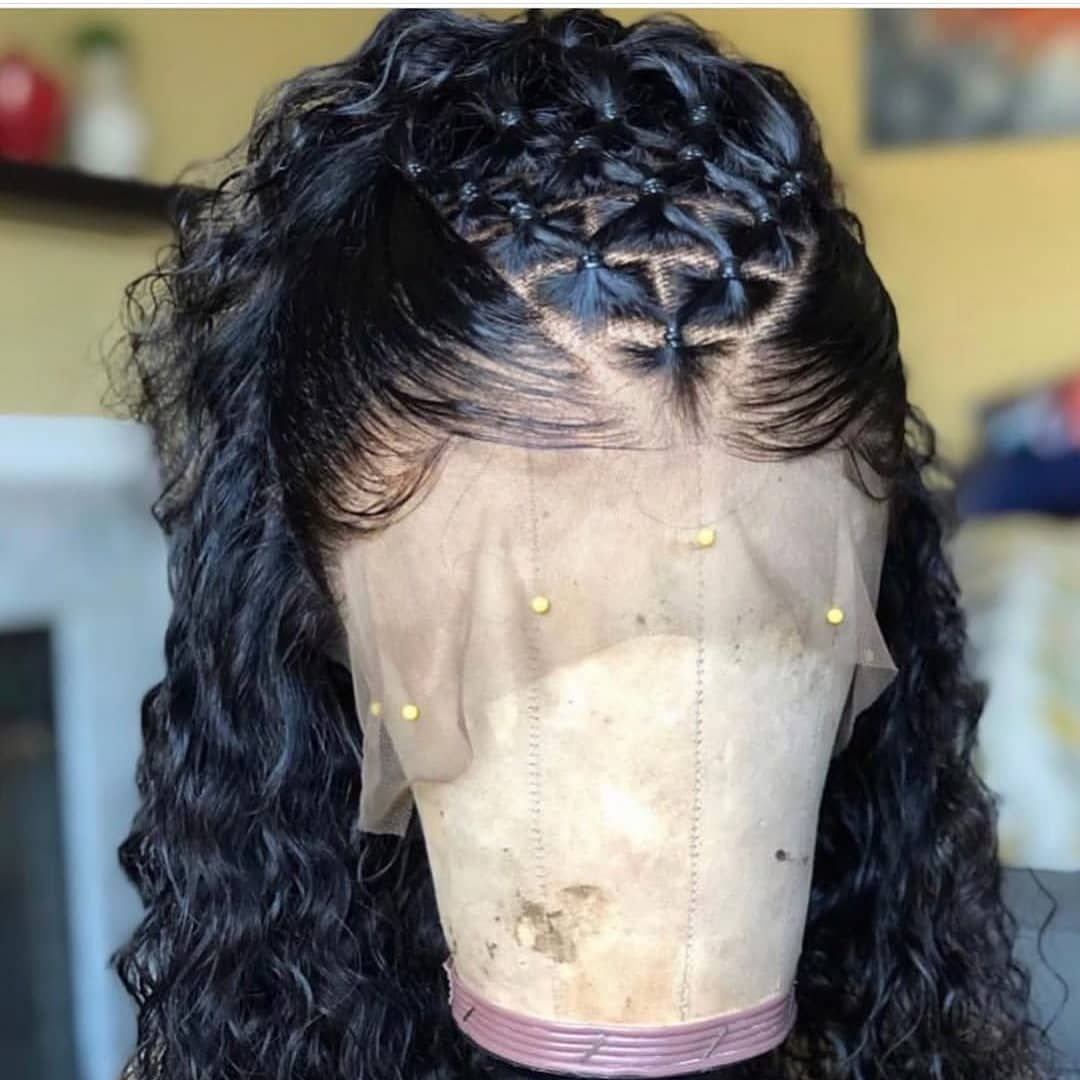 Lace Front Wigs Black Curly Hair Short Curly Bob Frontal Madira Virgin Hair Company Pure Natural Wigs