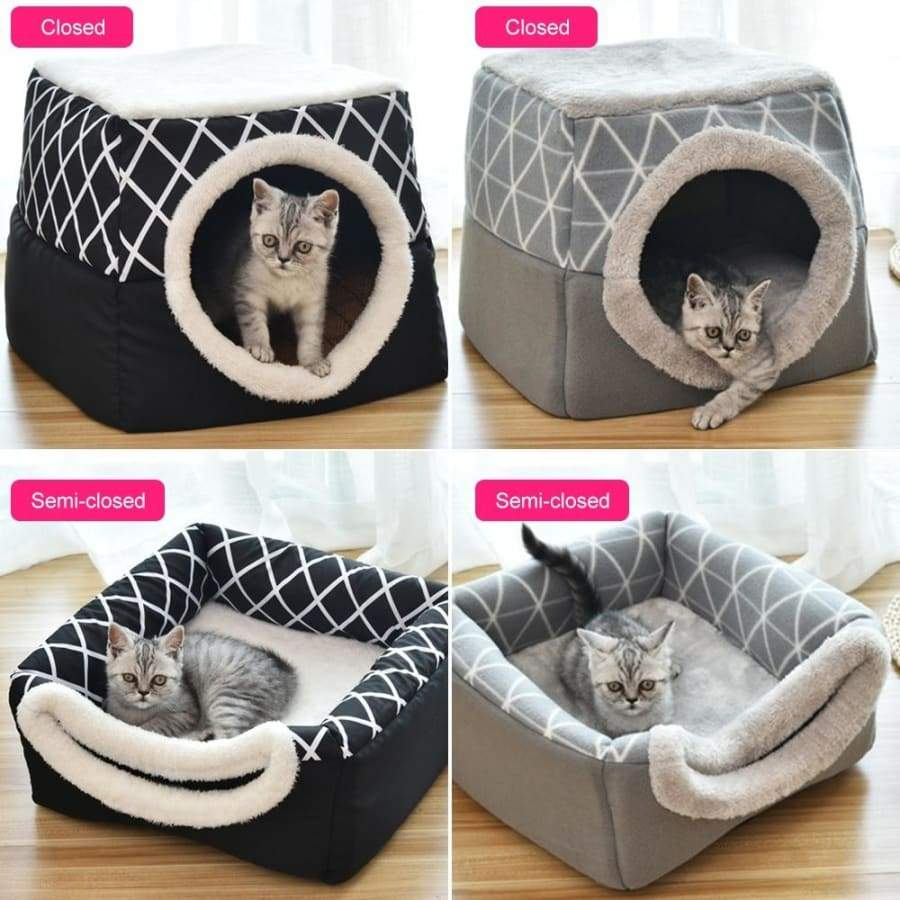 Pet Washable Lovely Cat Nest Warm Soft Sleeping Bed Non-slip Breathable Pet House 1Pcs