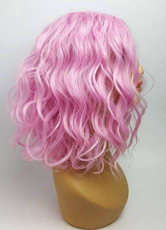 Lace Frontal Wigs Pink Brown With Pink Highlights For Girl
