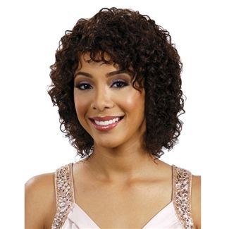 Lace Front Wigs Black Curly Hair Virgin Indian Remy Hair Curly 14 Inch Wig Freedomfashionwig