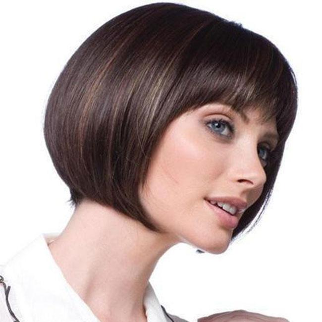 KAMI 070 A-line Chin-length Straight Synthetic Bob Wig