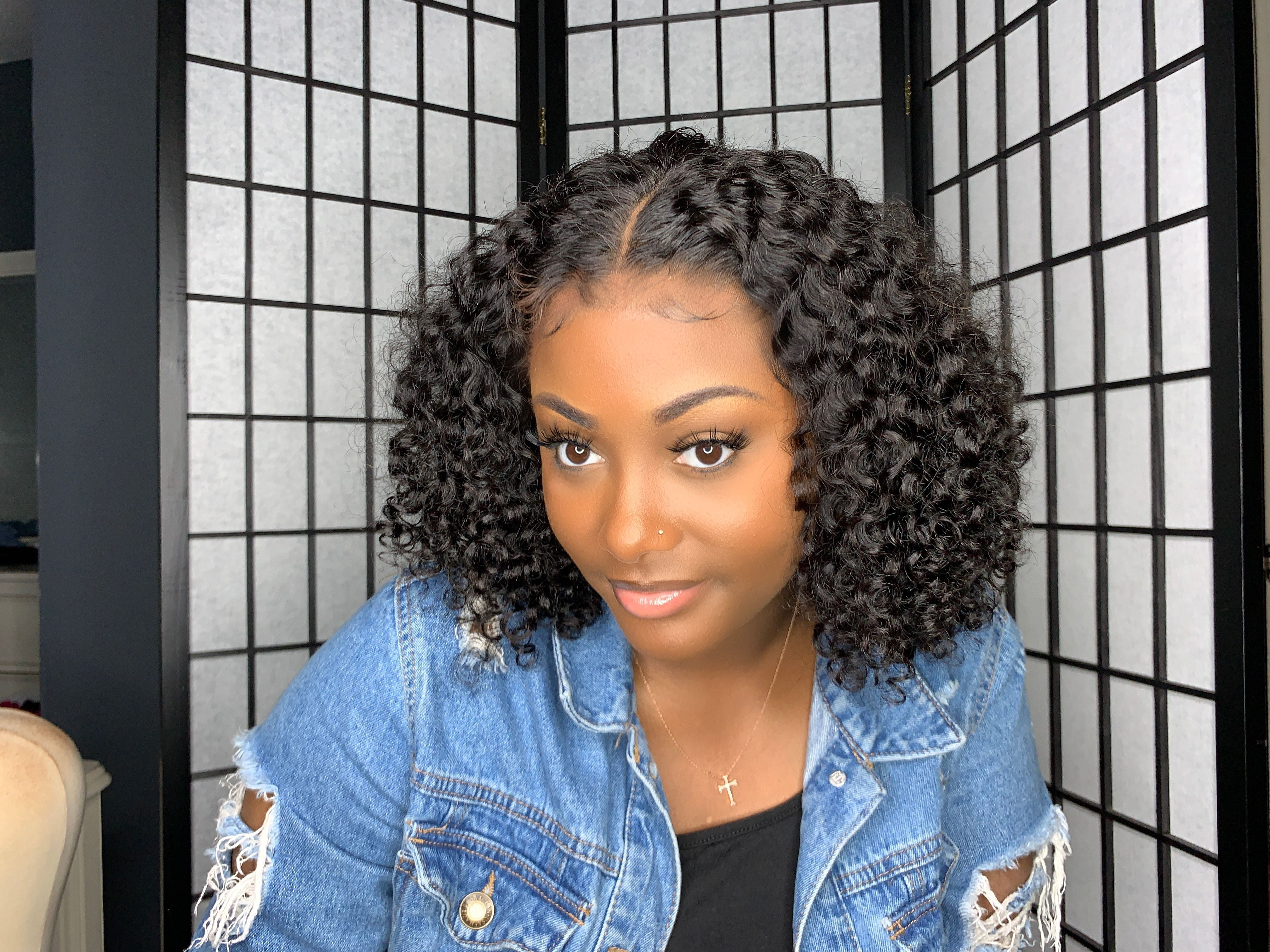 Curly Wigs Lace Front Curly Hair Black Hair Wigs That Look Real Artificial Hair Extension Blonde Lace Wig 10 Inch Human Hair Weave