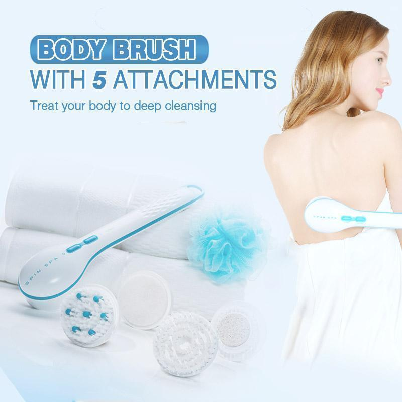 Spin Spa Body Brush with 5 Attachments??1 set??