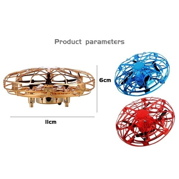 Mini Drone Infraed Induction Aircraft Levitation UFO Quadcopter LED Night Light Navigation Hand-Controlled Flying Helicopter RC Drone Toys for Kids