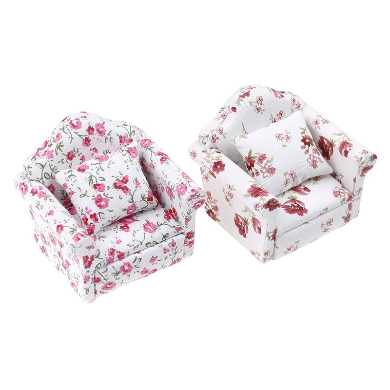 1:12 Mini Dolls Dollhouse Furniture Chair Sofa Furniture for Doll House Baby Toy FY
