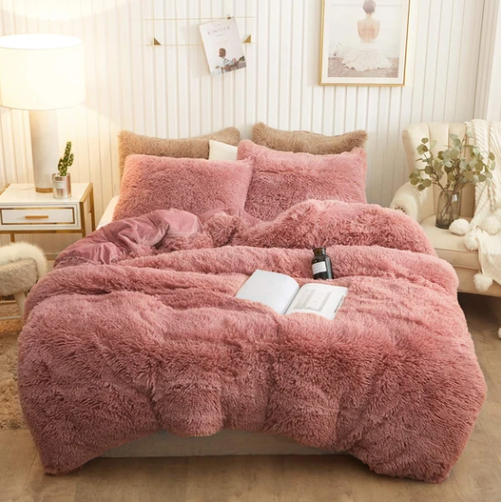 Fluffy Blanket With Pillow Cover 3 Pieces Set(Big sale🔥)(Free shipping)