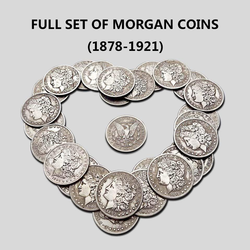 【Limited sale!!!】 FULL SET OF MORGAN COINS (1878-1921)