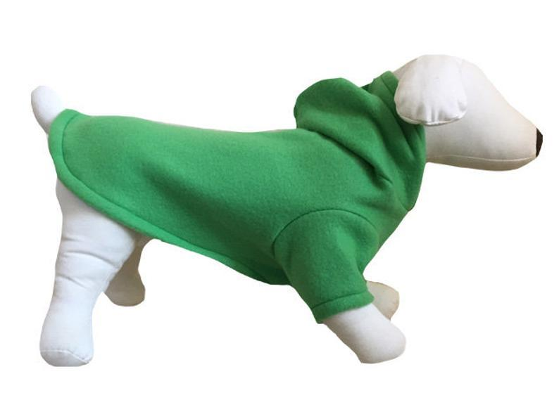 Fleece dog hoodie // dog sweater //Dachshund pajamas dog // fleece warm pet // dog gear // cat clothing // green // yellow // blue // red