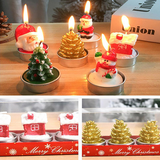 Christmas Candles for Home Party Halloween Christmas Wedding Holiday Celebration Decoration