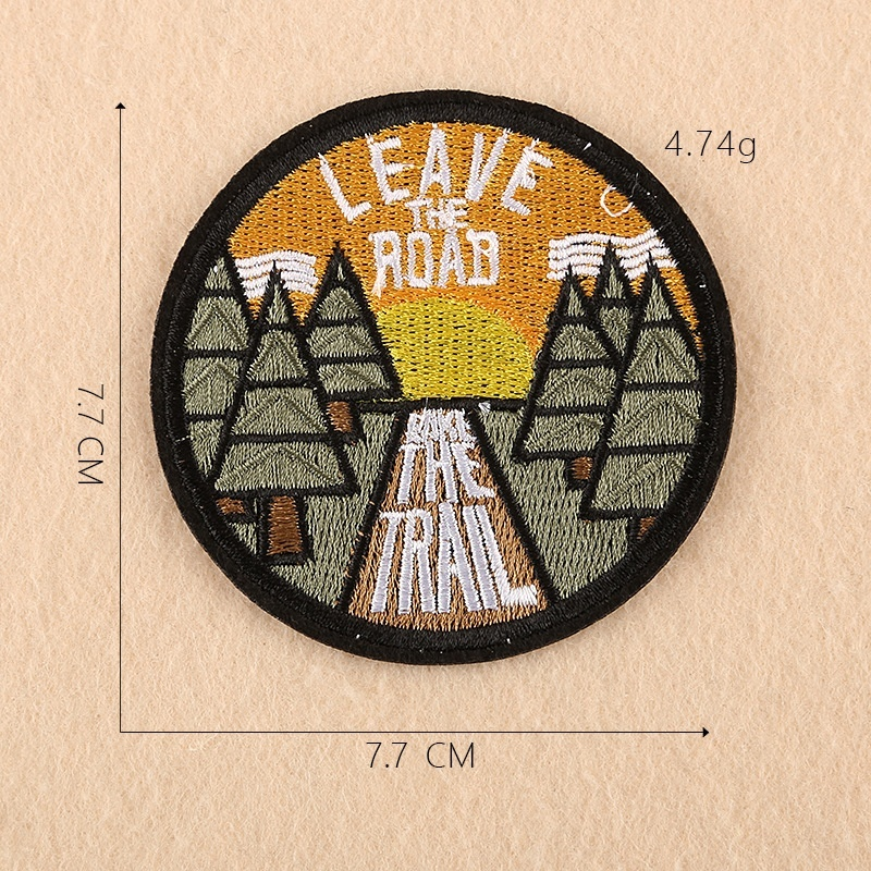 Nature Jewelry Travel Accessories Embroidered Outdoor Camping Patch Nature Loving Badge Applique Iron Sew on Patch