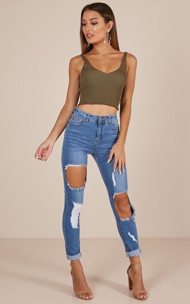 Skinny jeans High Waisted Ankle Pants