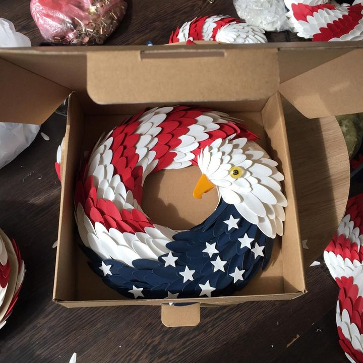 Independence Day American Eagle Wreath