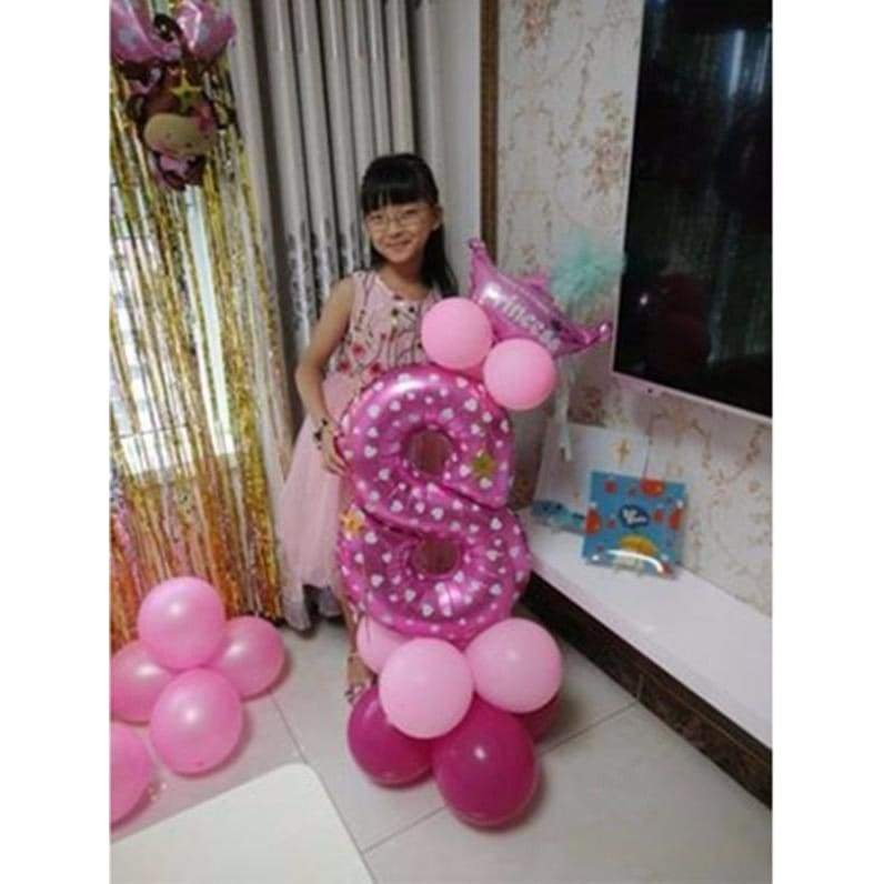 DIY 32'' 0-9 Number Balloons Set Kid's Birthday Party Decoration Guide Balloon Wedding Anniversary Home Decor