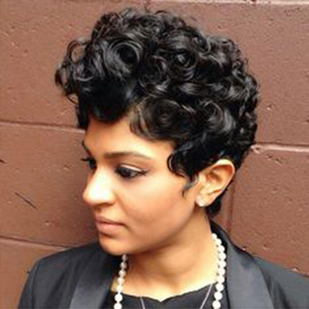 Luna 003 Gorgeous Short Curly Synthetic Hair Wig for Women