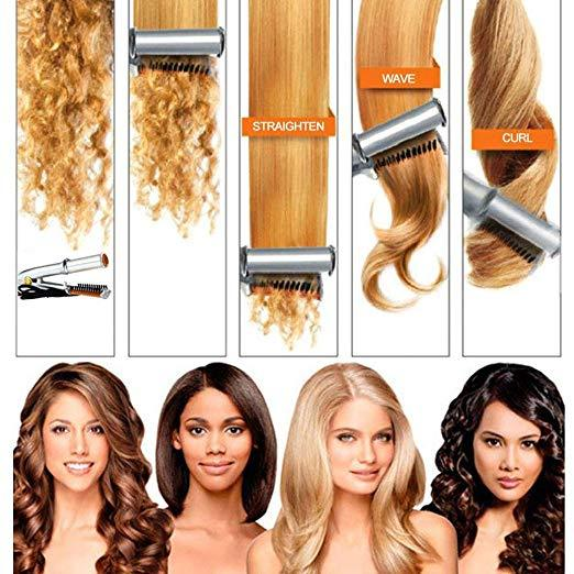 【Last Day Promotion-60%OFF-】Titanium 2-Way Rotating Curling Iron/Dual-Use Straight And Curling - Buy2GET10%OFF & FREE SHIPPING