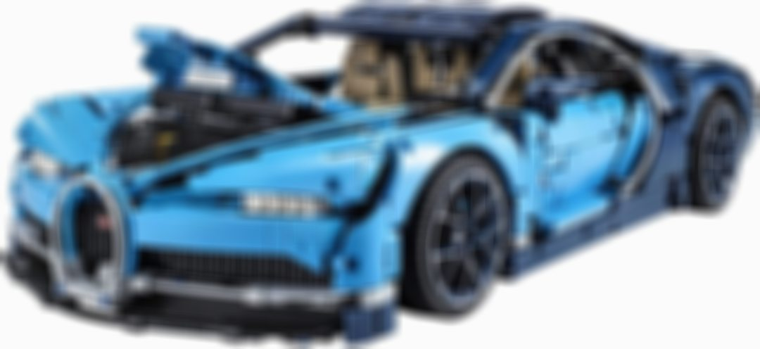 LEGO Technic Bugatti Chiron 42083 racing car building kit and engineering toys, adult collection sports car with scale model engine