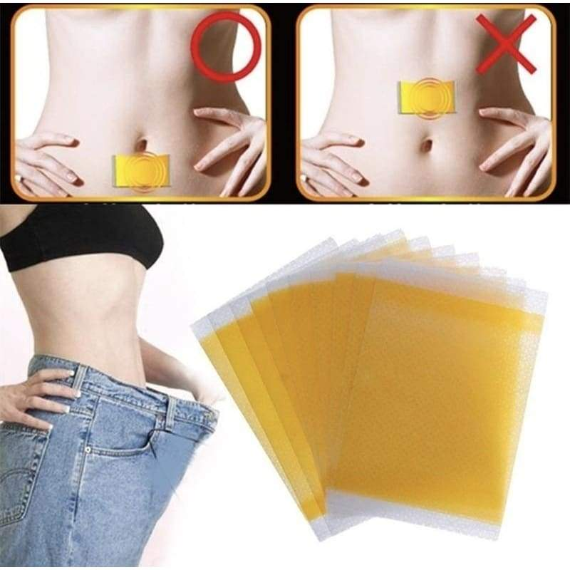 100PCS Chinese Medicine Raspberry Essential oil Sleep Weight Loss Navel Stick Fat Burning Slimming Diets Slim Patch Pads Detox Adhesive Sheet Gifts