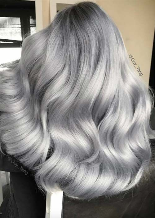 2020 New Gray Hair Wigs For African American Women Lavender Wig Silver Gray Color Hair Black And Gray Wigs Harry Potter Wig Ariana Grande Grey Hair