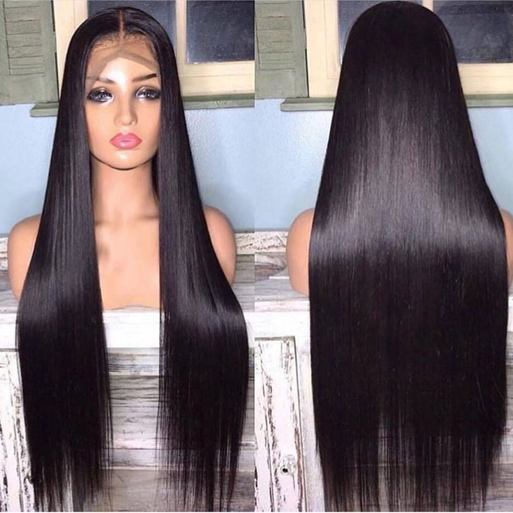 2020 New Straight Wigs Black Long Hair Straight Long Brown Hair Natural Hairpieces For Black Hair