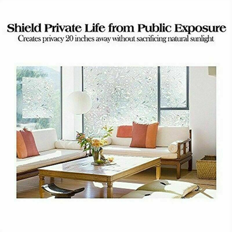 100x45 CM Waterproof Frosted Privacy Bathroom Window   Glass Film Stickers PVC Self-adhesive Film Home Decor