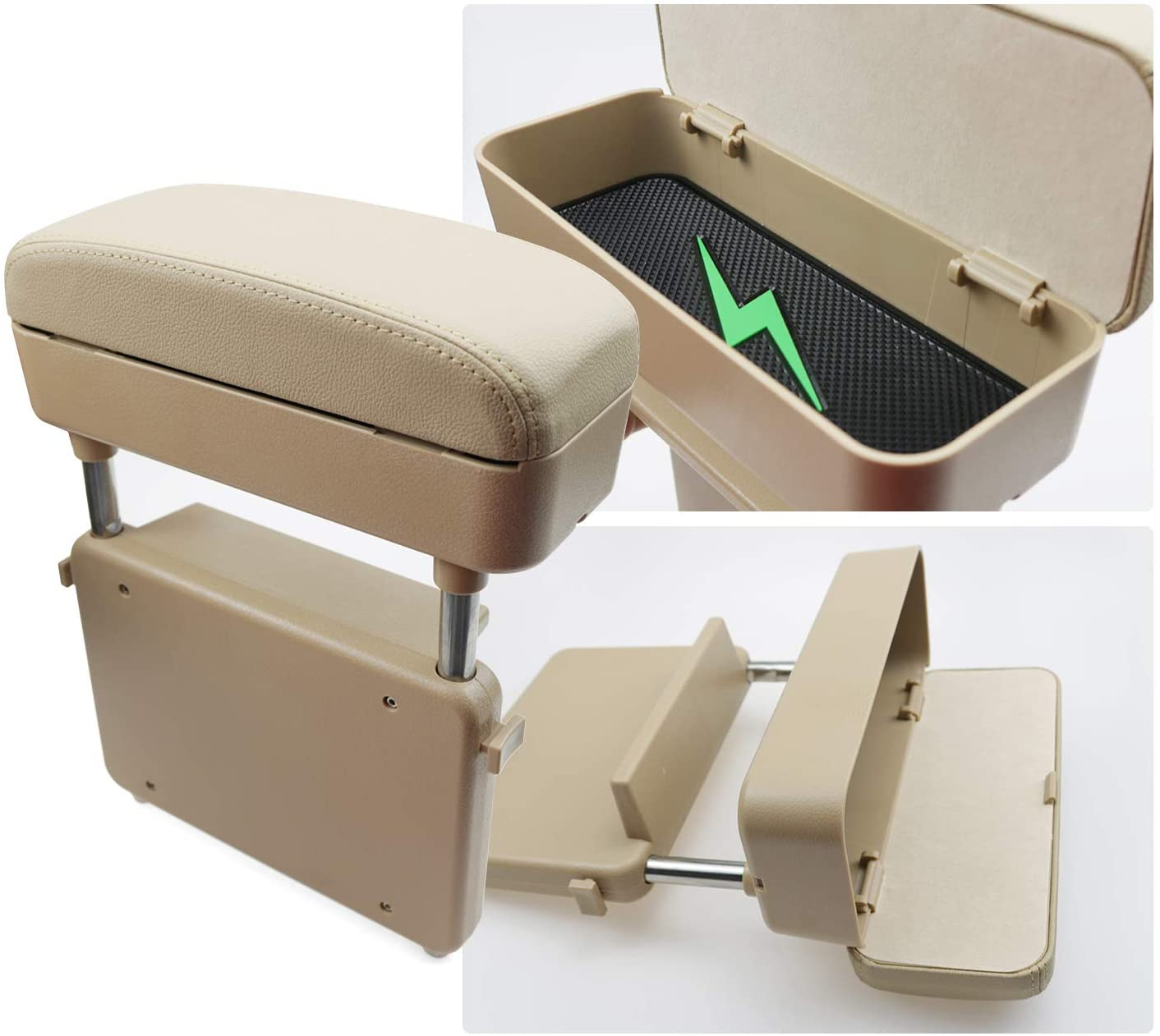 Auto body parts PU leather armrest box for car