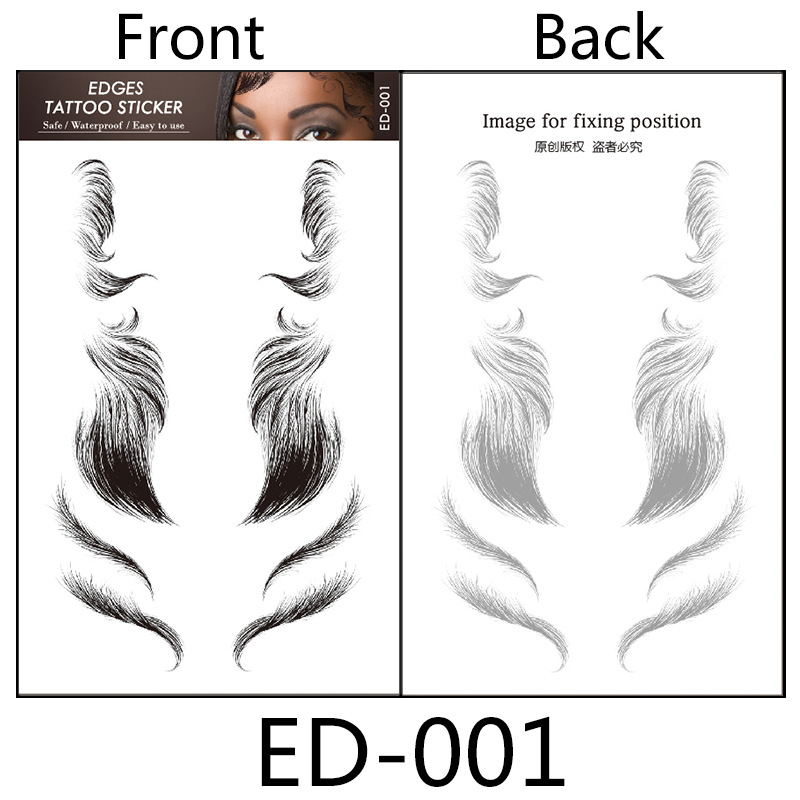 Baby Hair Tattoo Stickers (3Pairs of A Set)