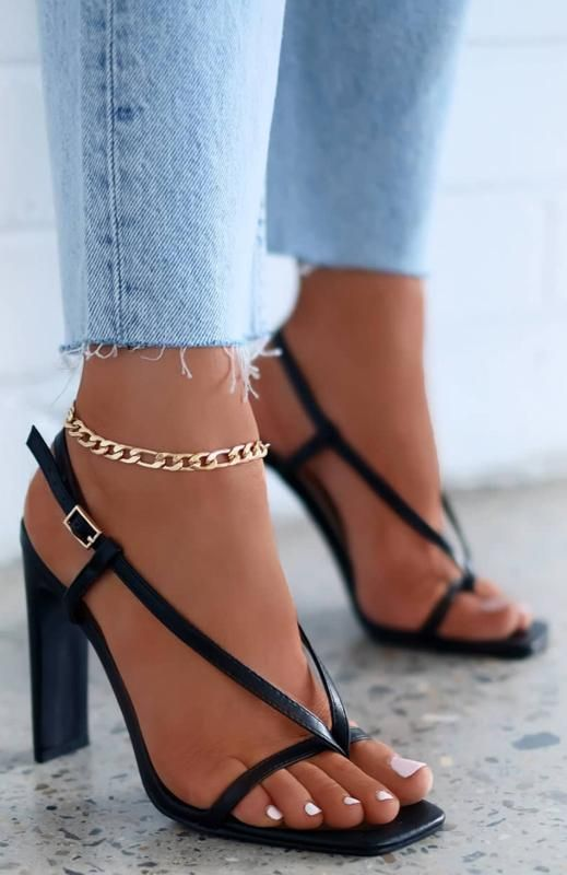 Trendy High Heel Shoes Shoe Accessories Wide Fit Heeled Sandals