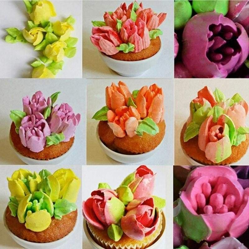 Nozzles tips 7pc russian pastry cake baking tools decoration