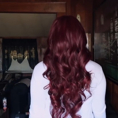 Special OFF | Beautiful BURGUNDYWINE color body wave wig