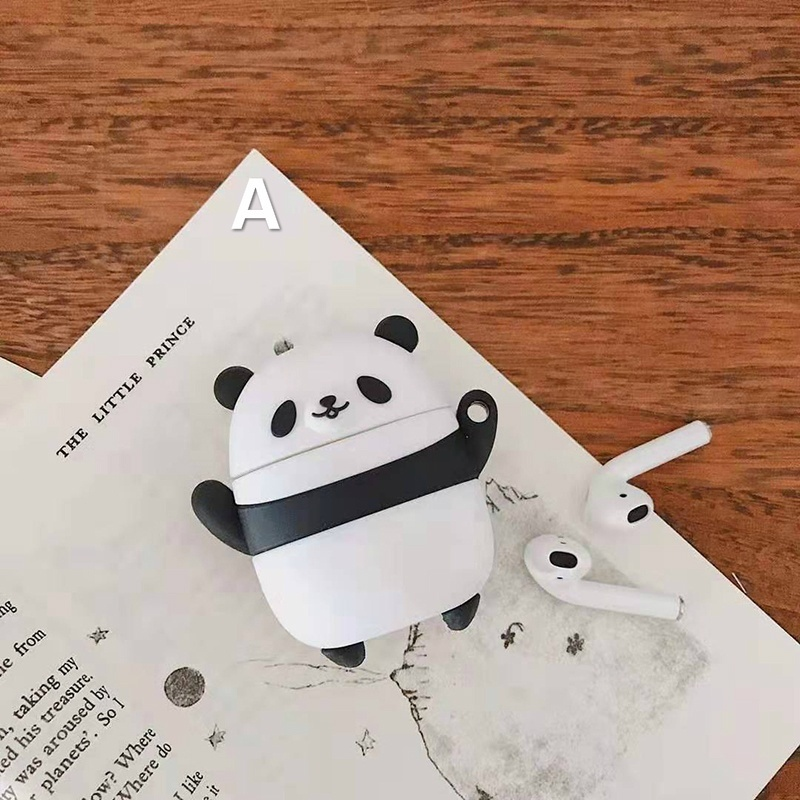 Cute Panda Portable Silicone Protective Apple AirPods Case Cover IPhone Headset Accessorie