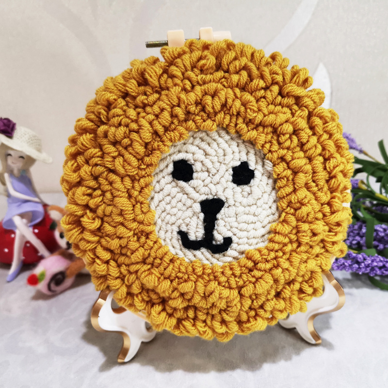 Lion Punch Needle Embroidery Kit