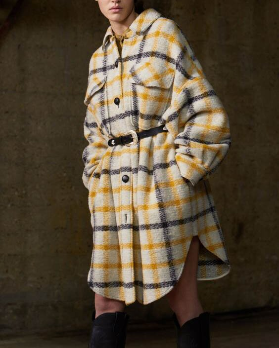 Men's and women's yellow plaid jacket