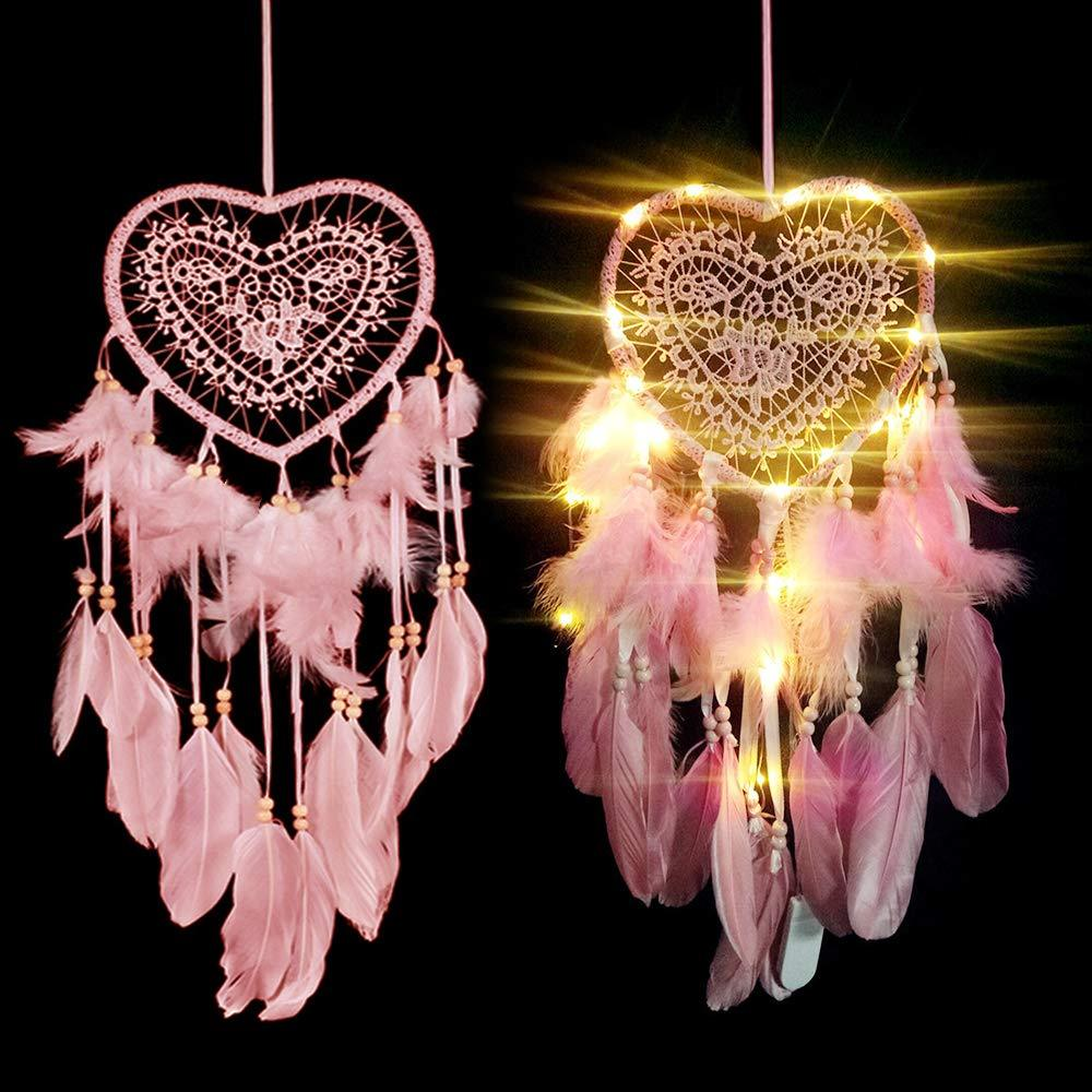 Handmade Wall Hanging Unicorn Dream Catchers with LED lights