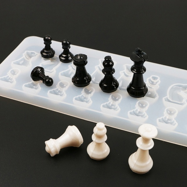 DIY Creative Chess Pieces Resin Mold Epoxy Mold Silicone Mold DIY Crafting Tools