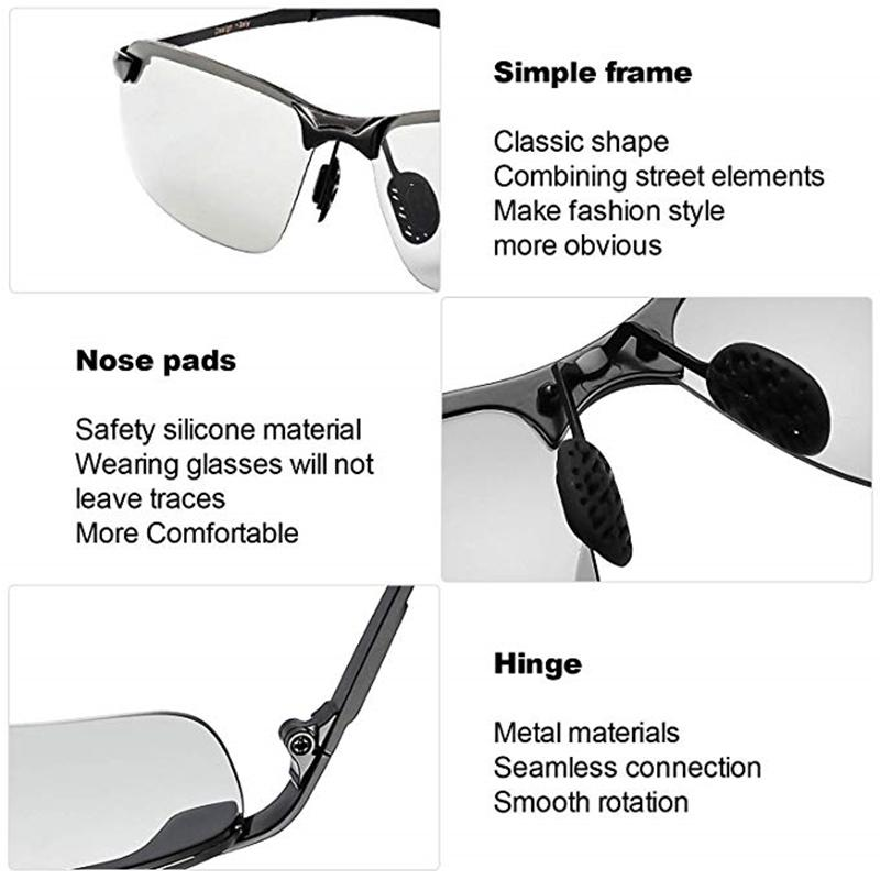 Color-changing sunglasses with polarized lenses