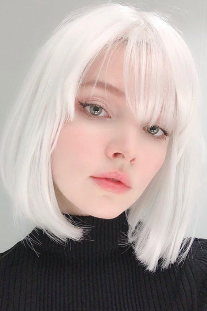 2021 New Lace Front Wigs Silver Blonde I Have Grey Hair Best Products For Gray Hair