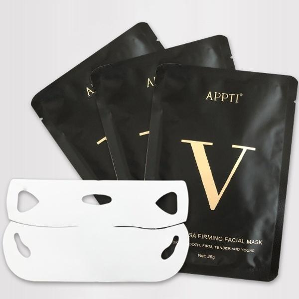 1pc 4D Double V Face Shape Tension Firming Mask Paper Slimming Eliminate Edema Lifting Firming Thin Face Care Tool