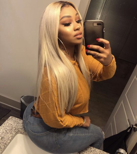 Lace Front Wigs Brown Wigs Blonde Wigs White Blonde Bob Wig Ginger Hair With Blonde Highlights Wigs For Black Women