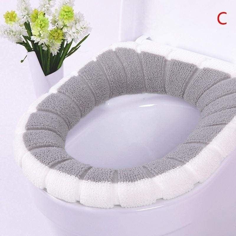 Foreverlisten Universal Warm Soft Washable Toilet Seat Cover Mat Closestool Toilet Lid Cover