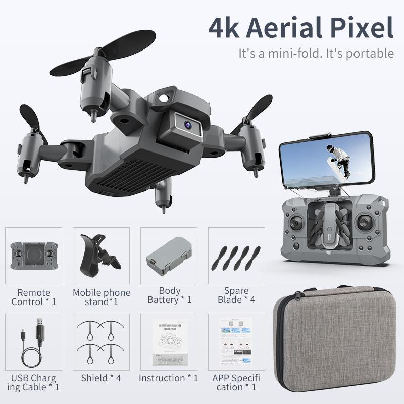 Mini Drone with 4K Camera HD Foldable Drones Quadcopter One-Key Return FPV Follow Me RC Helicopter Quadrocopter